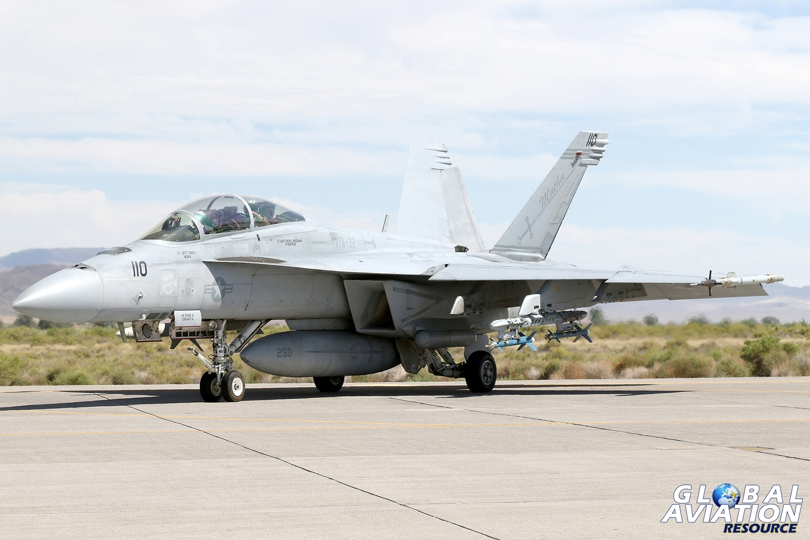F/A-18F Super Hornet from VFA-32 holding before departure © Paul Dunn - Global Aviation Resource