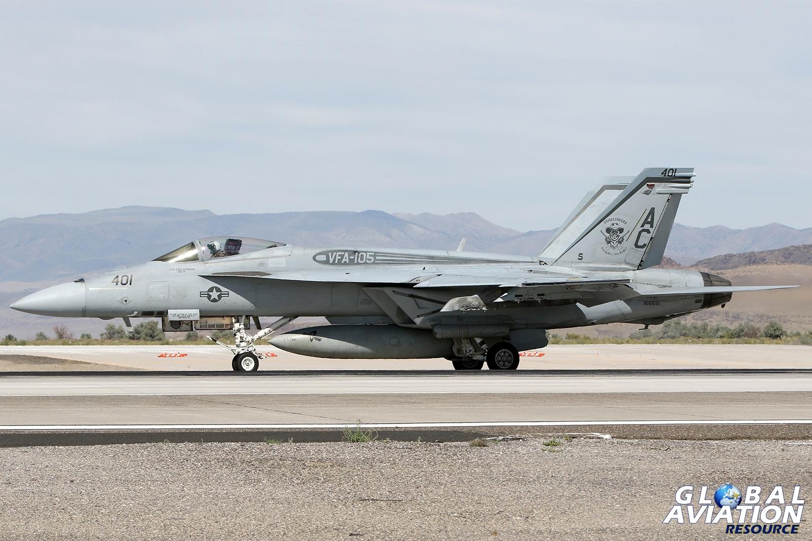 VFA-105 Gunslingers F/A-18E © Paul Dunn - Global Aviation Resource
