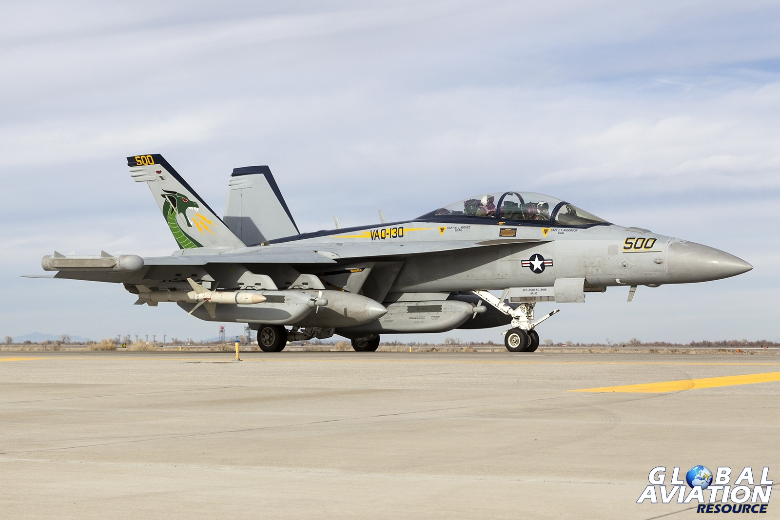 VAQ-130 Zappers EA-18G Growler © Tom Gibbons - Global Aviation Resource