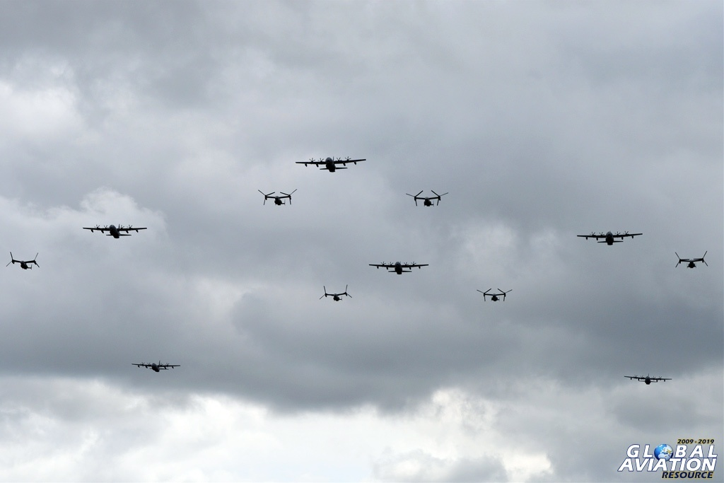 RAF Mildenhall D-Day 75 formation © Lindsay Peacock - Global Aviation Resource