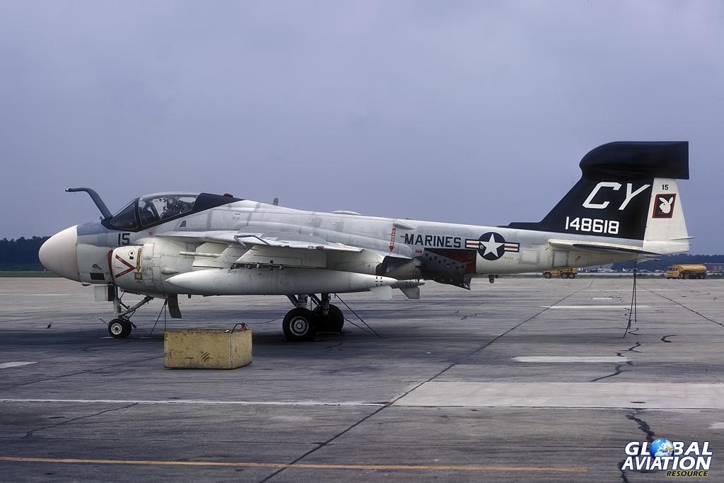 EA-6A - 148618 - VMCJ-2 - Cherry Point - 09/72 © Lindsay Peacock - Global Aviation Resource