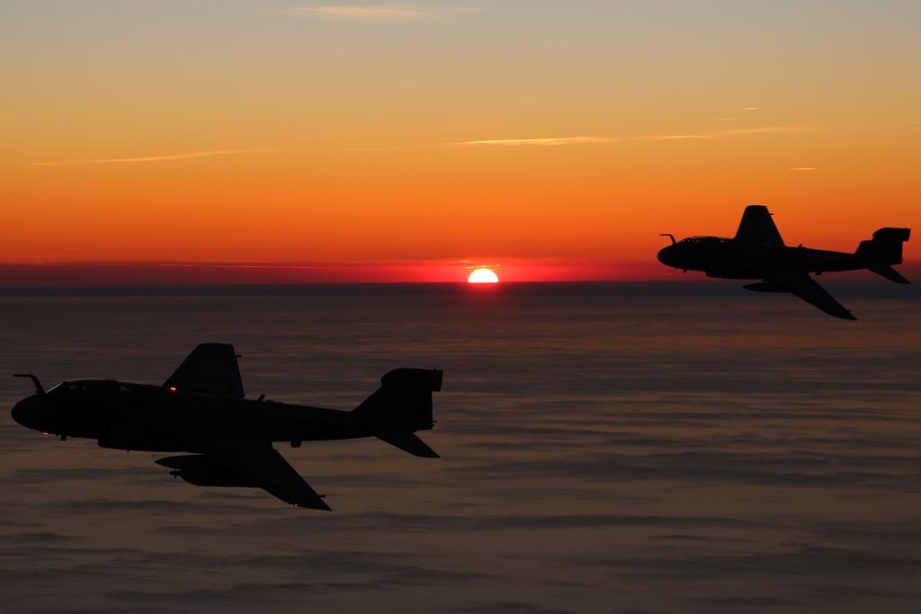 Prowler sunset - U.S. Marine Corps photo by Cpl. N.W. Huertas / Released