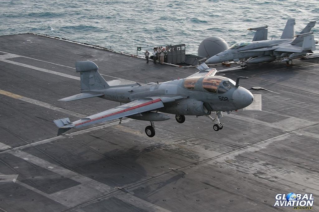 EA-6B - Prowler - VAQ-141 - CVN-71 - Persian Gulf - 01/06 © John Higgins - Global Aviation Resource