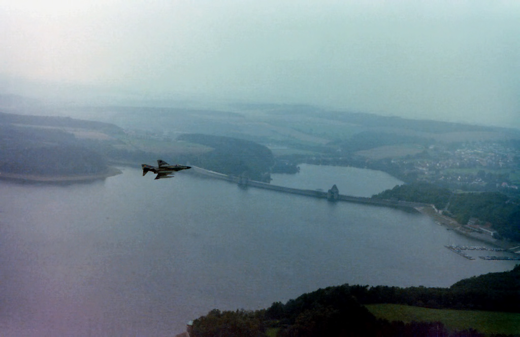 RAF F-4 over the Mohne Dam © David Gledhill