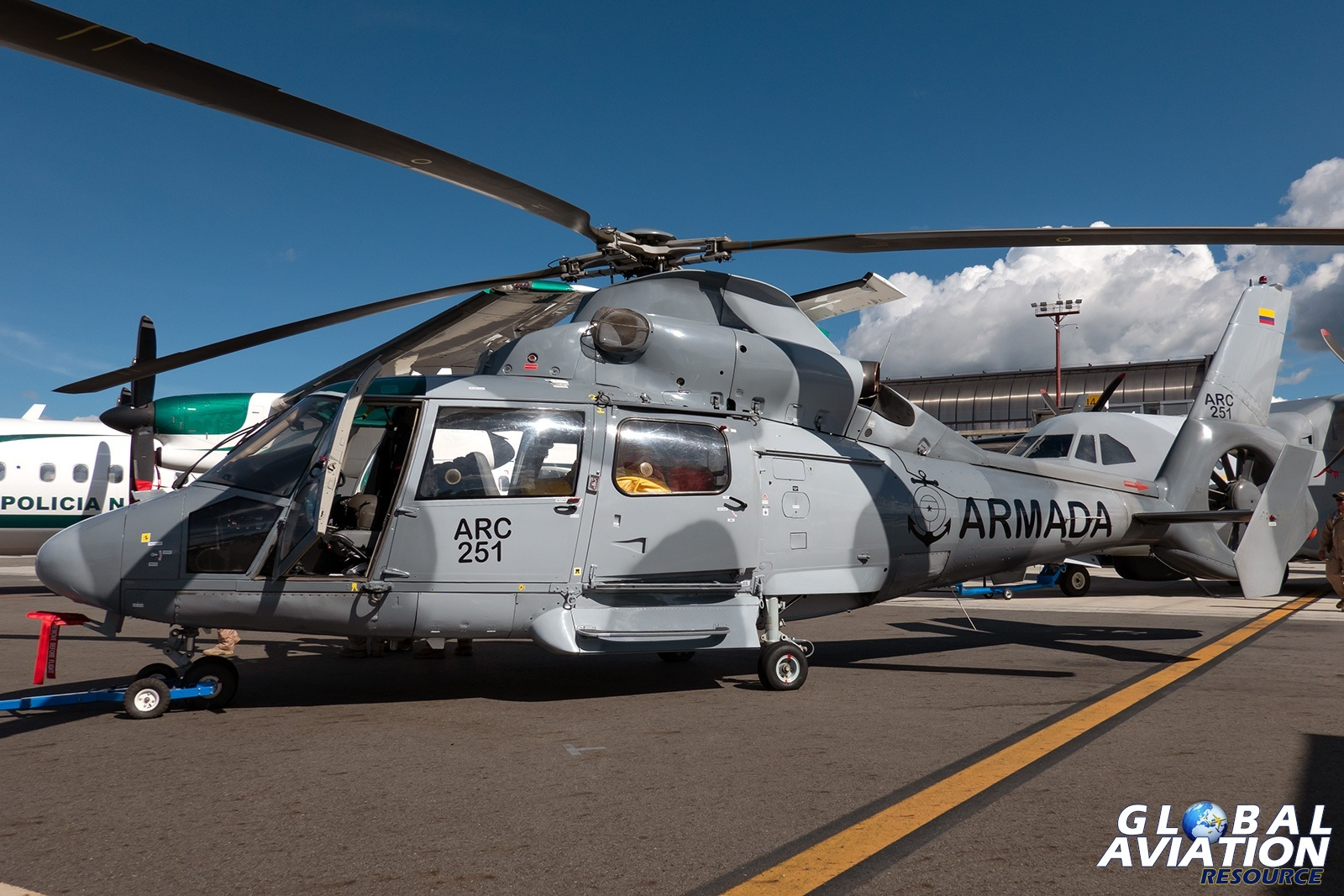Colombian Navy AS365N3 - © Paul Filmer, Global Aviation Resource
