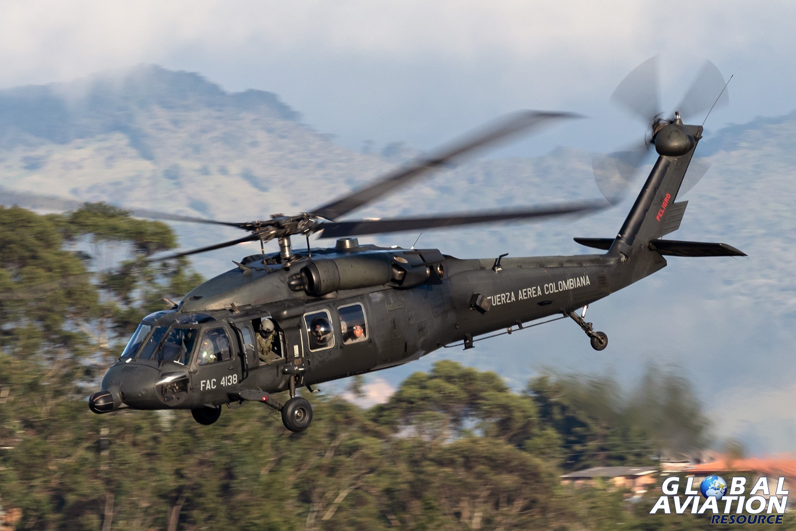 Colombian Air Force MH-60L - © Paul Filmer, Global Aviation Resource