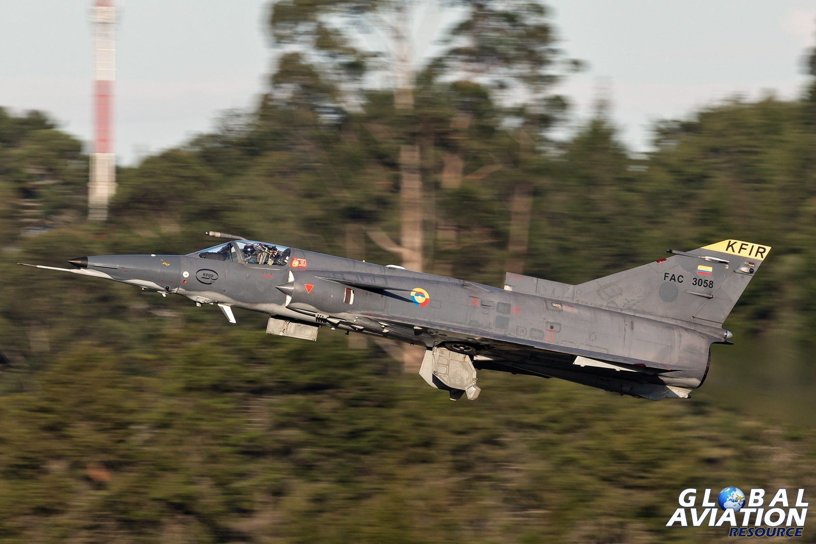 Colombian Air Force Kfir COA - © Paul Filmer, Global Aviation Resource