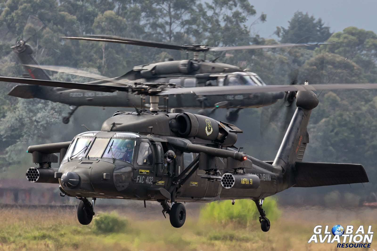 Colombian Air Force AH-60L - © Paul Filmer, Global Aviation Resource