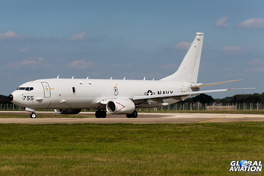 US Navy P-8A Callsign Navy Lima Lima 822 © Gordon Jones - Global Aviation Resource