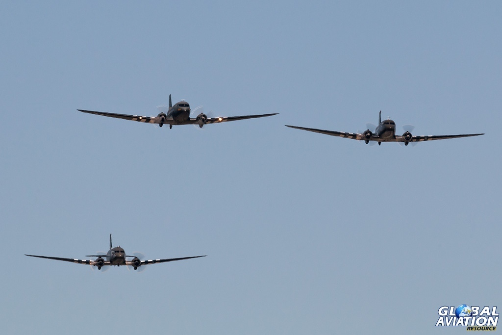 C-47 formation flight - © Paul Filmer - Global Aviation Resource