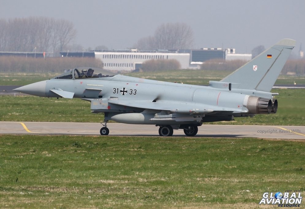 German Eurofighter from JBG31 ready for another Frisian Flag sortie© Kevin Wills - Global Aviation Resource