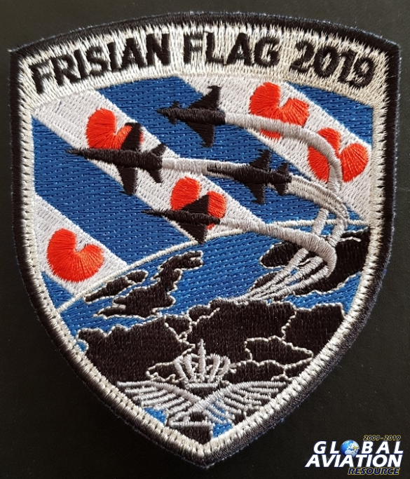 The official patch for Frisian Flag 2019 © Jeroen van Holland - Global Aviation Resource