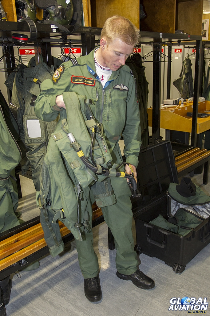 A Typhoon pilot's flying equipment is extensive and effective © Tom Gibbons - Global Aviation Resource