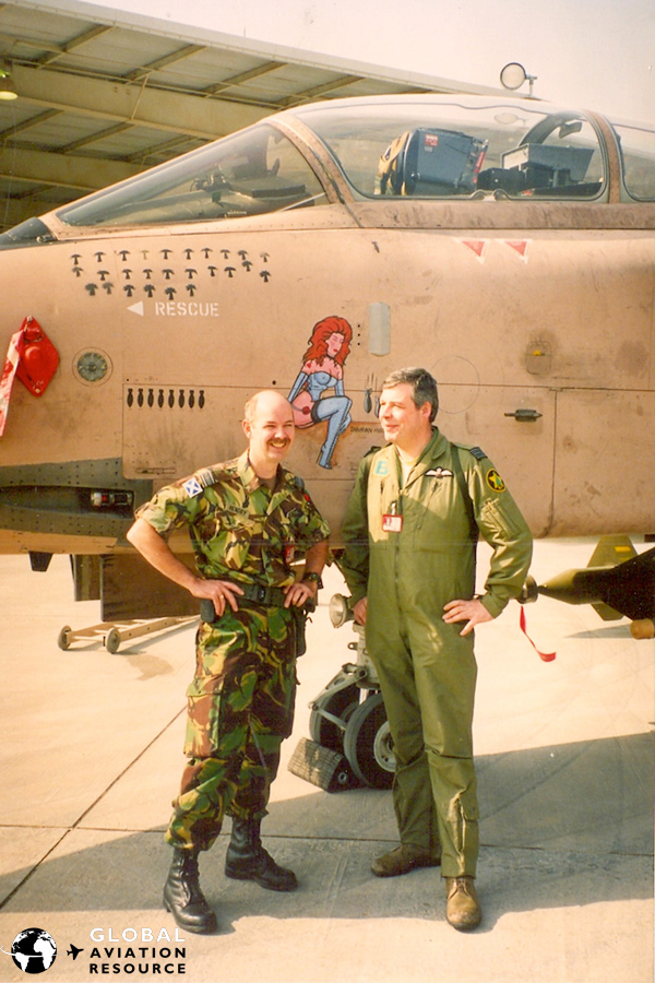 Les Hendry and Jerry Witts in Dharan during Gulf War 1 - Image c/o Les Hendry