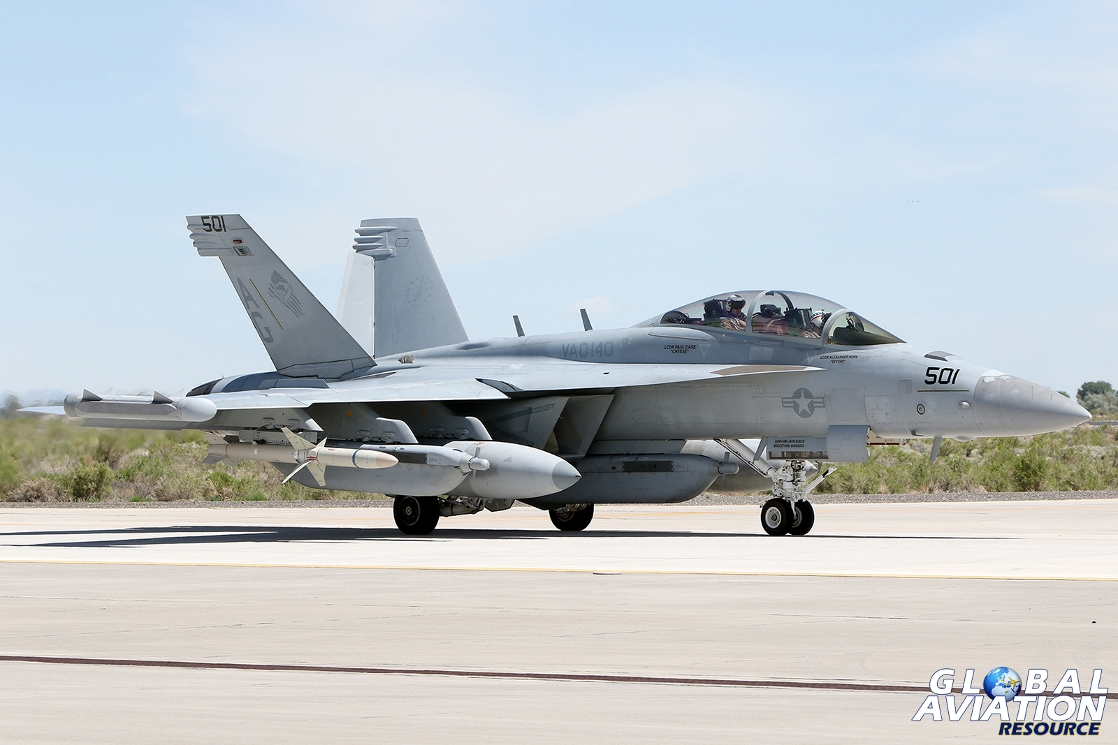 Visiting EA-18G Growler from VAQ-140 © Paul Dunn - Global Aviation Resource