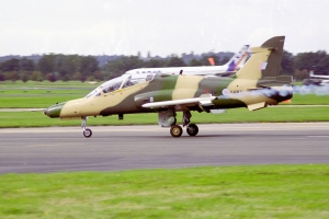 BAe's Hawk 100 demonstrator lands at Farnborough © Rob Edgcumbe - www.globalaviationresource.com