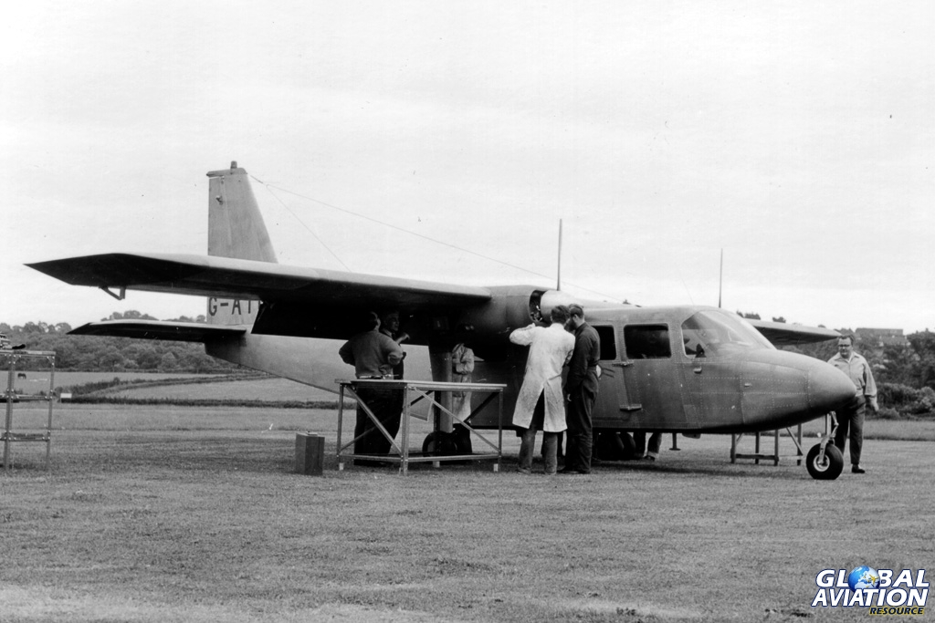 BN-2 prototype G-ATCT being prepared for flight early June 2015. BNAPS Archive Collection