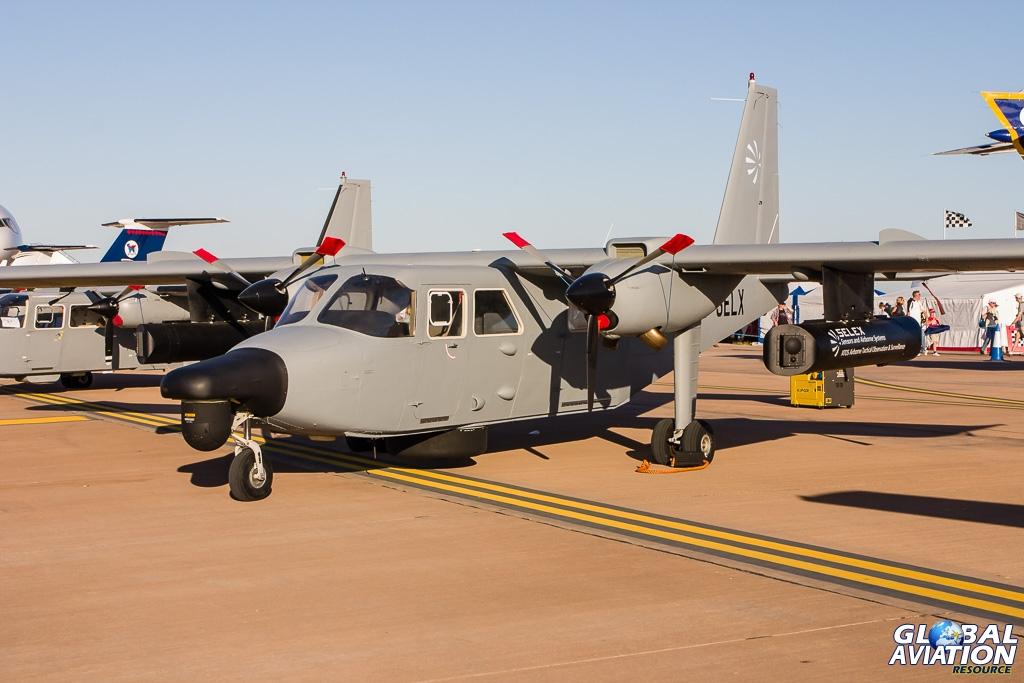 The Selex testbed turbine Islander at RIAT Fairford. © Rob Edgcumbe - Global Aviation Resource