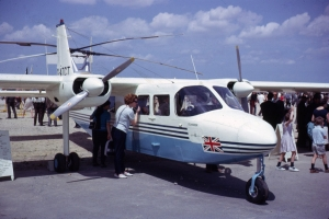 """Now named """"Islander"""" the BN-2 prototype stimulated much interest when it appeared at  the Paris Air Show, June 1965.  © Bob Ward"""
