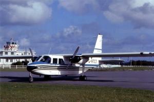 B-N Islander G-ATCT in its 1966 colour scheme for the Farnborogh Air Show.  © BN Historians/Airstream International