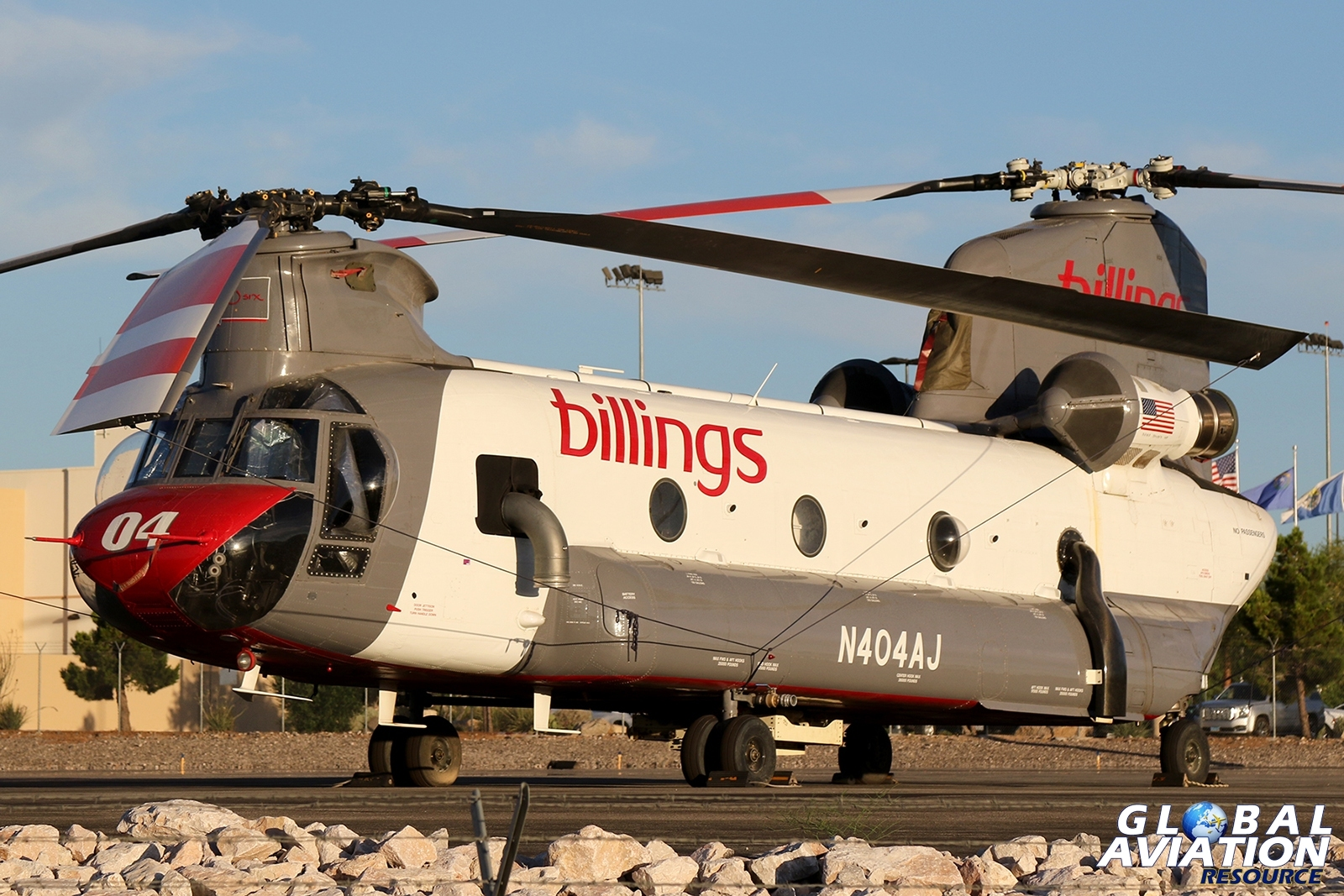 Former US Army CH-47D Chinook, now operated as a firefighter by Billings Flying Service. Seen at Henderson Executive Airport © Paul Dunn - Global Aviation Resource