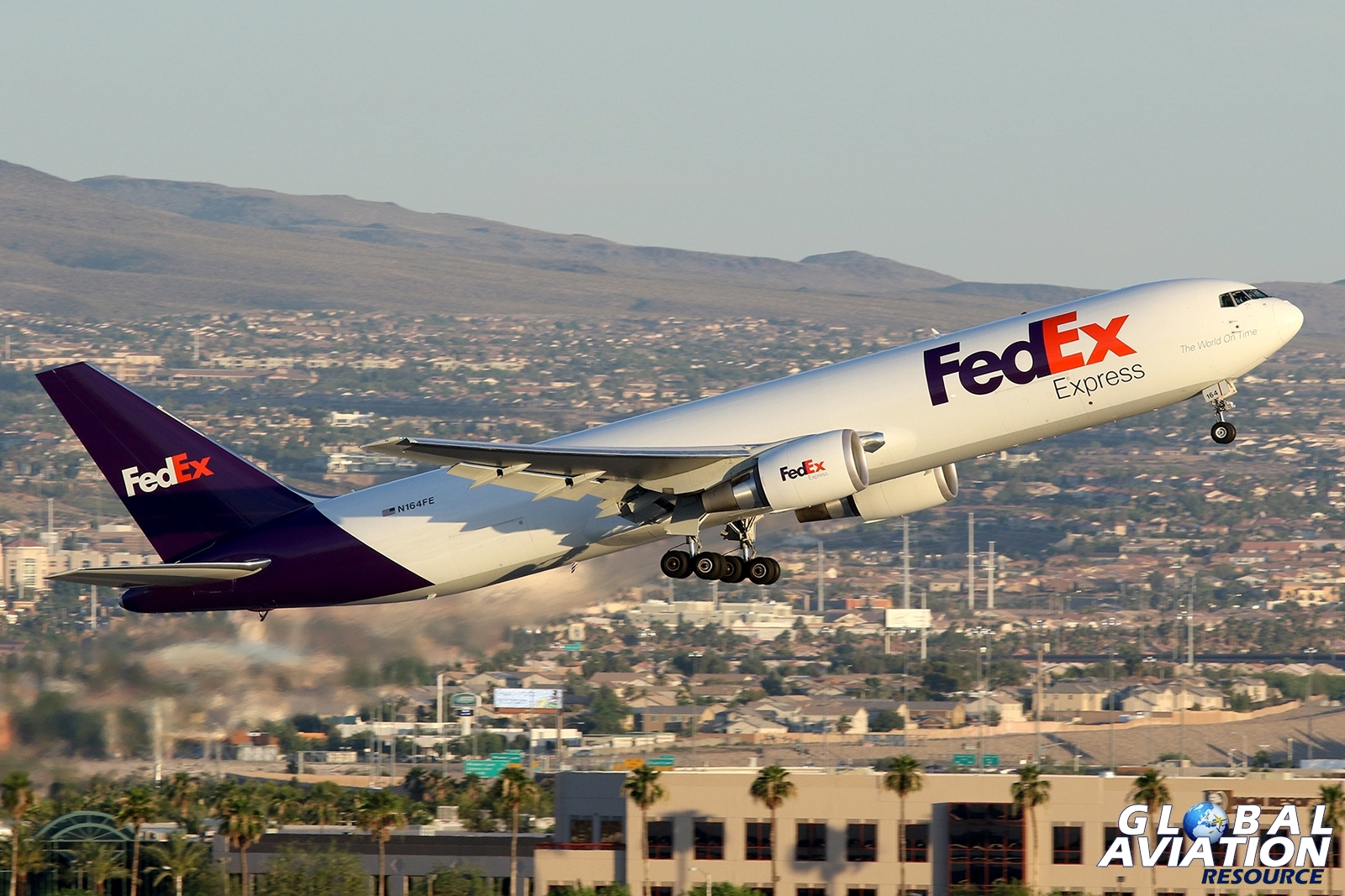 FedEX 767 departing Las Vegas McCarran © Paul Dunn - Global Aviation Resource