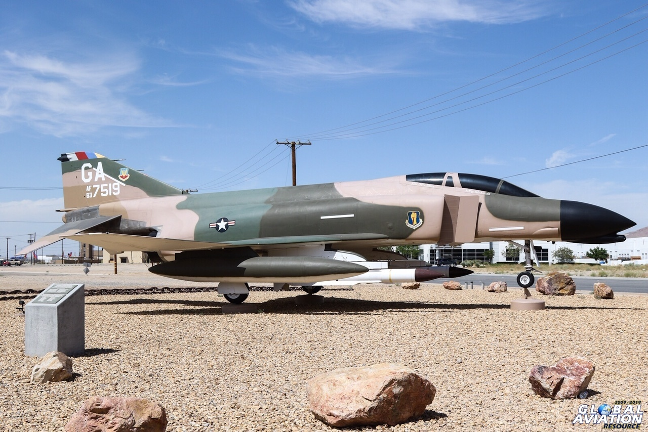 "F-4C displayed at Southern California Logistics Airport (SCLA, Victorville). The aircraft is displayed in the markings of the 35th TFW at George AFB (now known as SCLA). Note the pair of AGM-78 Standard missiles carried, representative of the unit's ""Wild Weasel"" role © Paul Dunn - Global Aviation Resource"