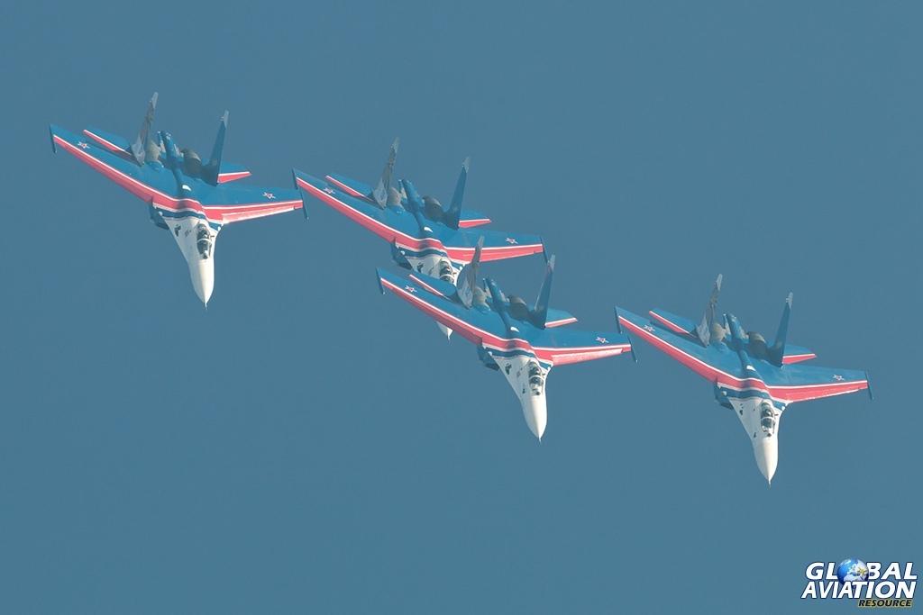 Russian Knights Su-27s - © Paul Filmer - Global Aviation Resource