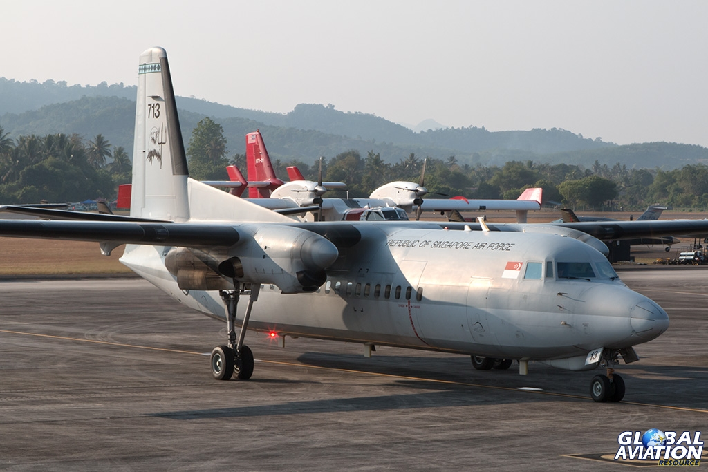 Singapore Air Force Fokker 50UTA - © Paul Filmer - Global Aviation Resource