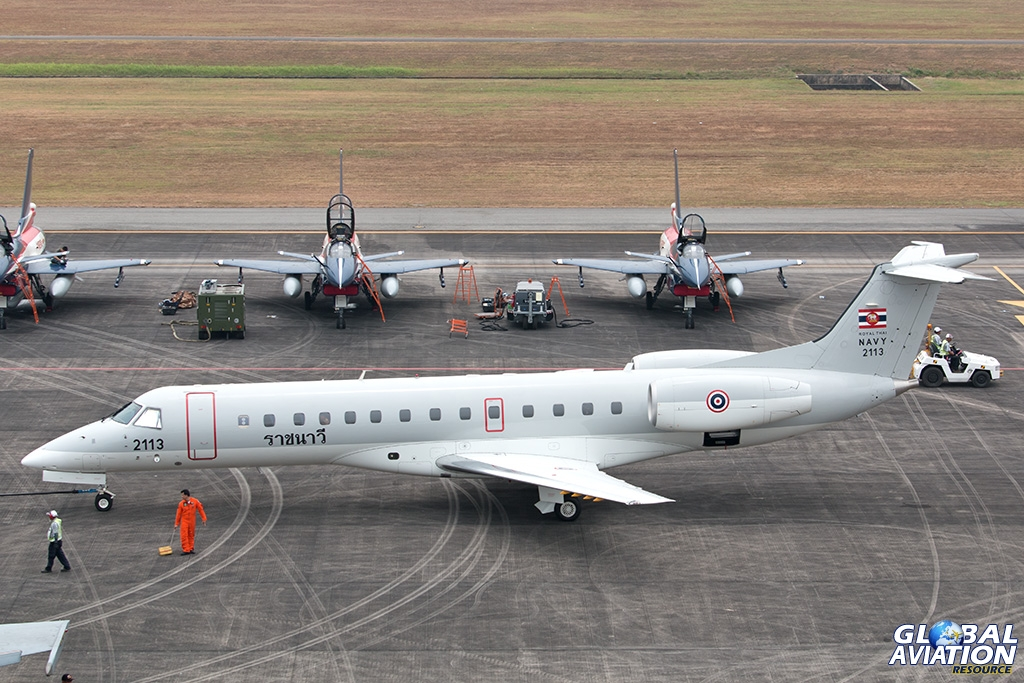 Royal Thai Navy ERJ135LR - © Paul Filmer - Global Aviation Resource