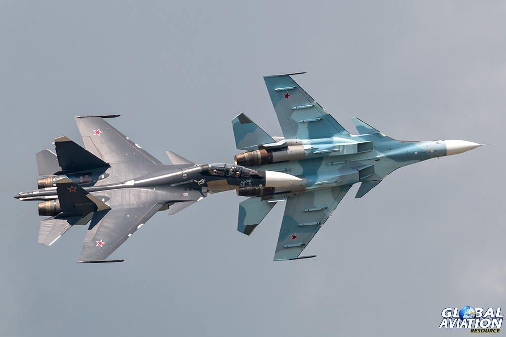 Su-30SM pair - © Paul Filmer - globalaviationresource.com
