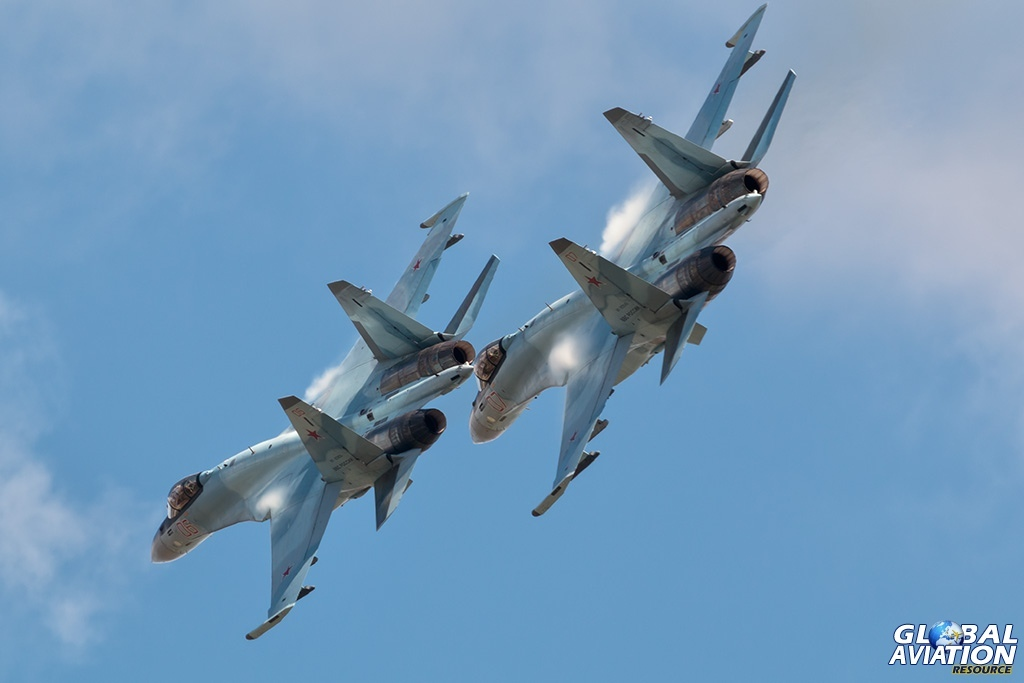 Su-35S pair - © Paul Filmer - globalaviationresource.com