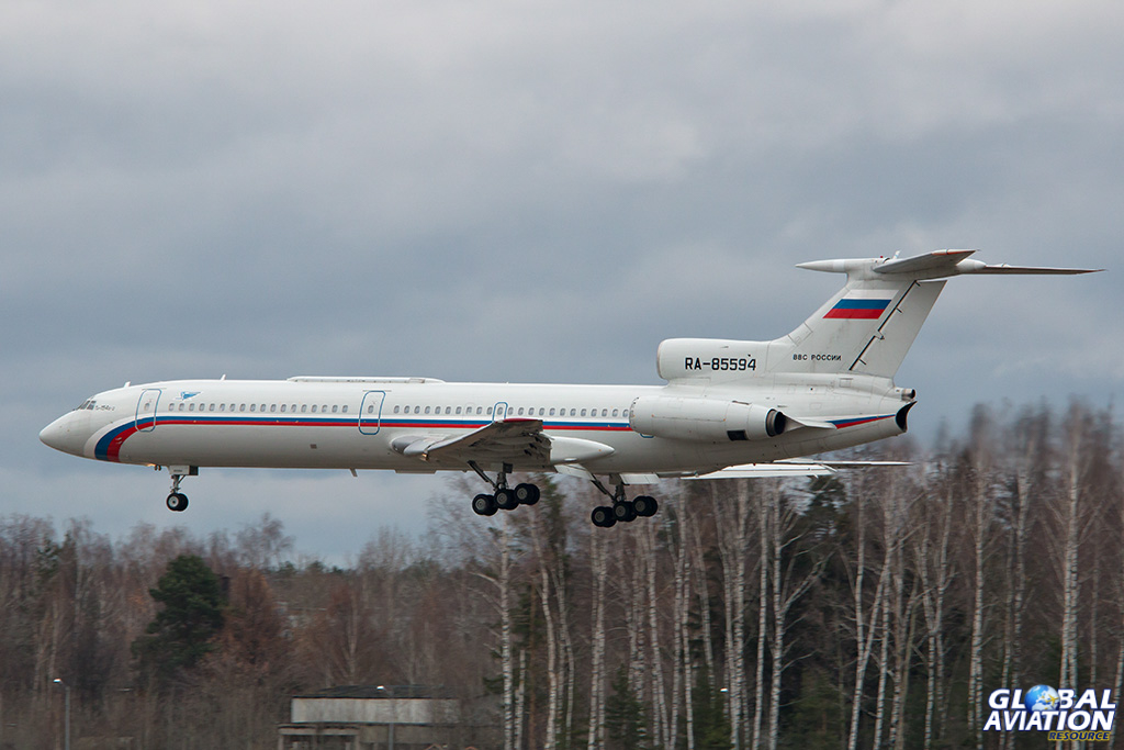 Russian Air Force Tu-154B-2 at Chkalovsky - © Paul Filmer - Global Aviation Resource