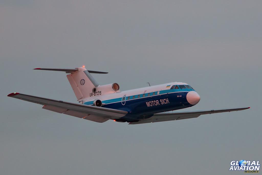 Motor Sich Yak-40 at Vnukovo - © Paul Filmer - Global Aviation Resource