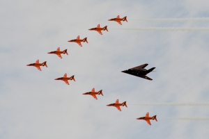 RIAT 2003 formation with the F-117 © Rob Edgcumbe - www.globalaviationresource.com