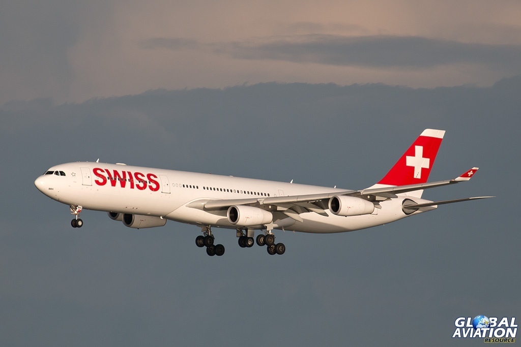 Swiss Airbus 340 - © Paul Filmer - Global Aviation Resource