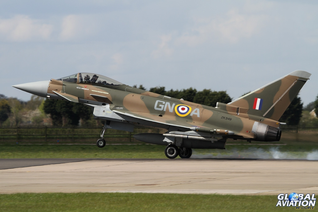 The 'Hurriphoon' lands after a sortie from Coningsby © Chris Wood - Global Aviation Resource