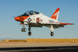 A T-45 moments from touchdown at El Centro © Rob Edgcumbe - www.globalaviationresource.com