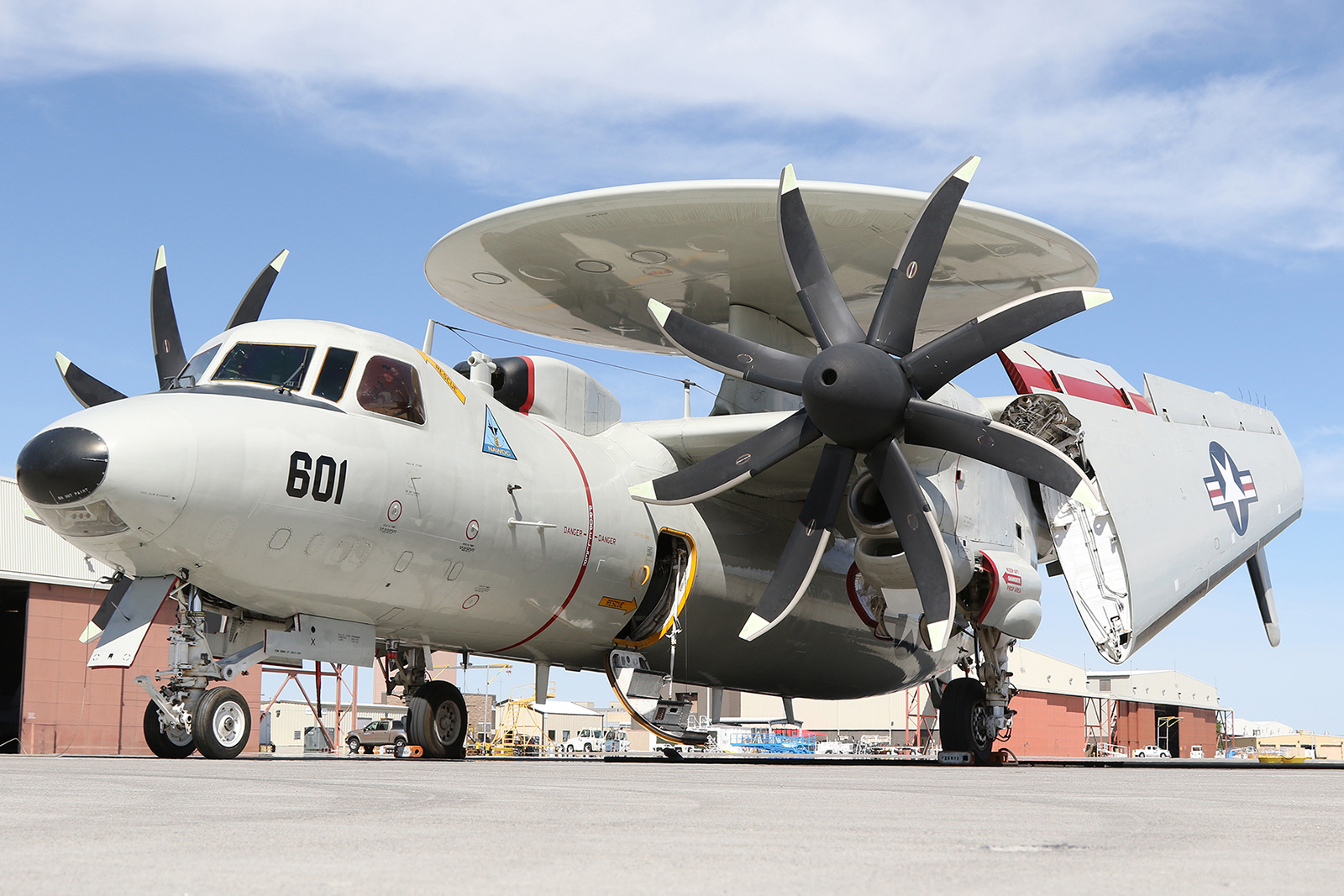 E-2D Hawkeye assigned to NAWDC © Paul Dunn - Global Aviation Resource