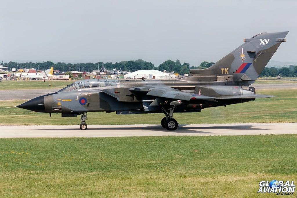 ZA608 15 Squadron Tornado GR.1 Woodford 1994 © John Higgins - www.globalaviationresource.com