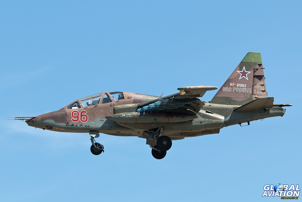 Su-25UB at Chkalovsky - © Paul Filmer - Global Aviation Resource