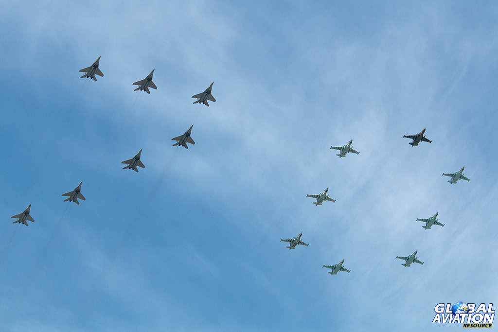 MiG-29 and Su-25 70 formation - © Paul Filmer - Global Aviation Resource