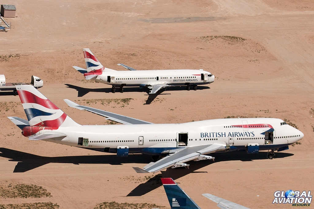 British Airways Boeing 747-400 G-BNLS and Boeing 737-400 G-DOCU - © Paul Filmer - Global Aviation Resource