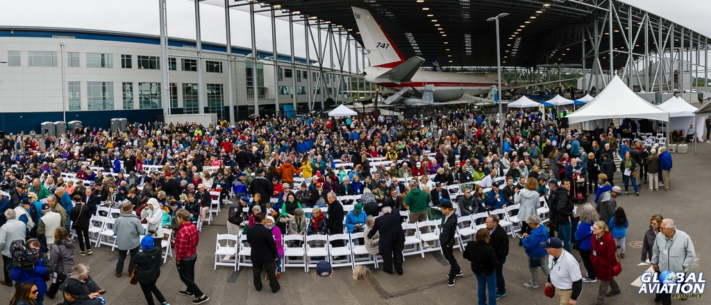 Gathered spectators in front of the Museum of Flight collection - © Rob Edgcumbe Global Aviation Resource