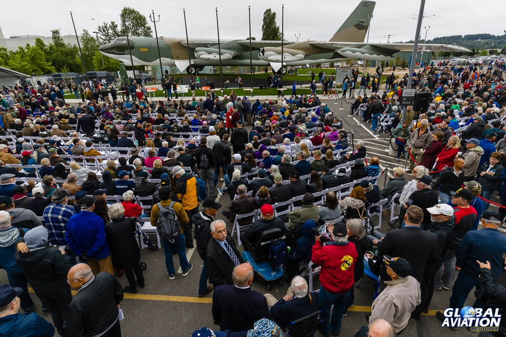 Crowds assemble for the dedication ceremony to start - © Rob Edgcumbe Global Aviation Resource