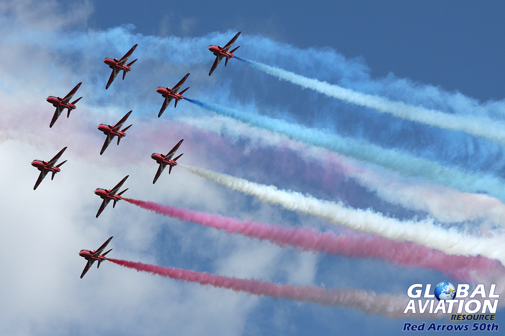 Aviation News – Red Arrows given approval to display in 50th season