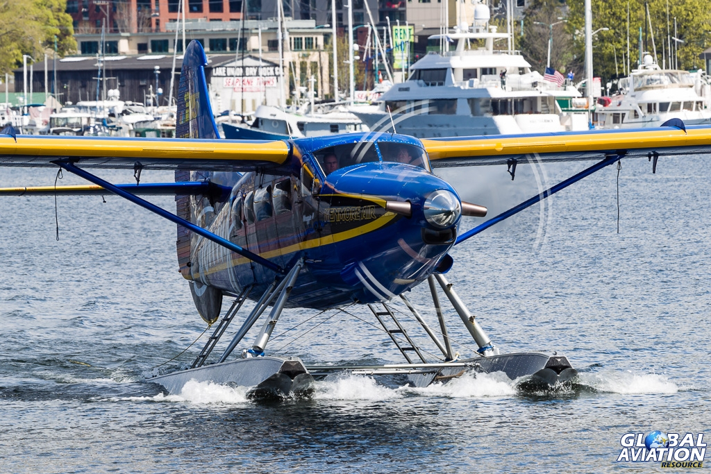 BlogGAR – Rob Edgcumbe – Kenmore Air float-planes at Lake Union, Seattle