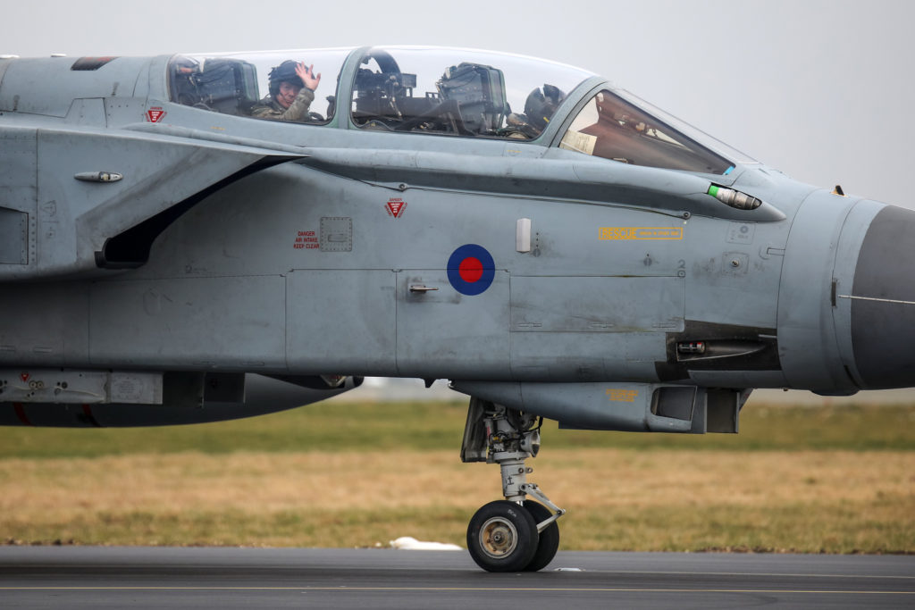 Stradders giving the camera wave after one of his final Tornado trips at RAF Marham © Karl Drage - Global Aviation Resource
