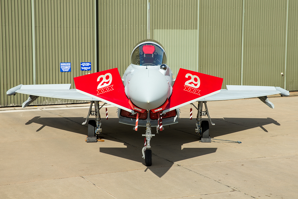 Aviation News – Centenary markings for 29(R) Squadron Typhoon