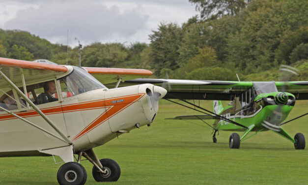 Vintage Aircraft Club fly in, Popham, 23rd August 2020